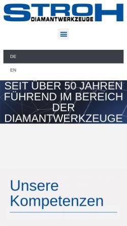 Vorschau der mobilen Webseite stroh-diamant.de, Stroh Diamantwerkzeuge GmbH