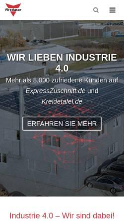 Vorschau der mobilen Webseite firstlaser.de, Firstlaser GmbH