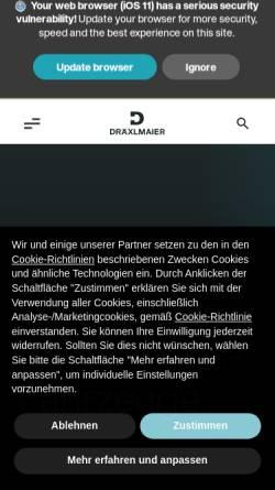 Vorschau der mobilen Webseite www.draexlmaier.com, Fritz Dräxlmaier GmbH & Co. KG
