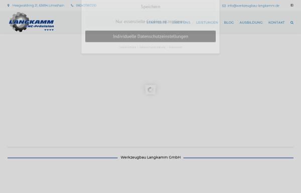 Vorschau von www.werkzeugbau-langkamm.de, Werkzeugbau Langkamm GmbH