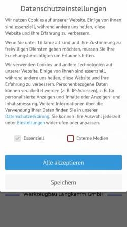Vorschau der mobilen Webseite www.werkzeugbau-langkamm.de, Werkzeugbau Langkamm GmbH