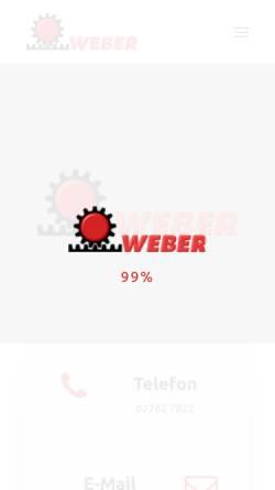 Vorschau der mobilen Webseite www.weber-mechanik.de, Weber Mechanik
