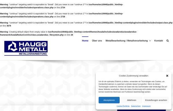 Vorschau von www.haugg-metall.de, Erich Haugg GmbH & Co. Metallverarbeitung