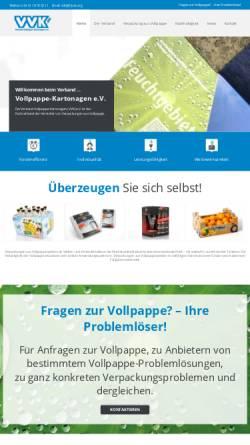 Vorschau der mobilen Webseite www.vvk.org, Verband Vollpappe-Kartonagen (VVK) e.V