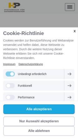 Vorschau der mobilen Webseite www.datenintegration.de, H+P Datenintegration GmbH