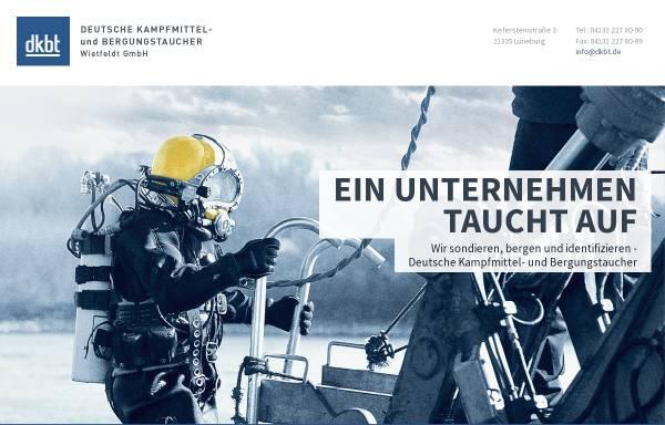 Vorschau von dkbt.de, Dkbt Deutsche Kampfmittel- und Bergungstaucher Wietfeldt GmbH