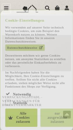 Vorschau der mobilen Webseite www.verpackungsstadl.at, Verpackungsstadl GmbH