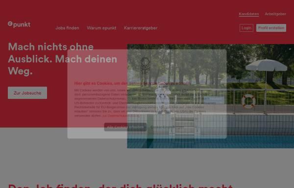 Vorschau von www.epunkt.com, ePunkt Internet Recruiting GmbH
