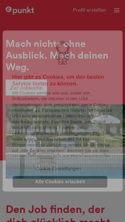 Vorschau der mobilen Webseite www.epunkt.com, ePunkt Internet Recruiting GmbH