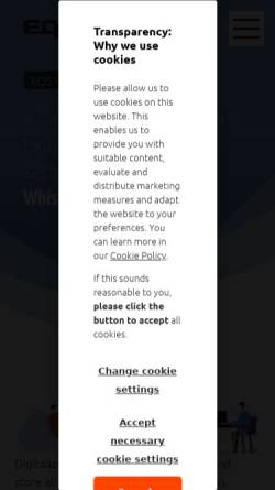 Vorschau der mobilen Webseite www.financial.de, Financial.de - EQS Financial Markets & Media GmbH