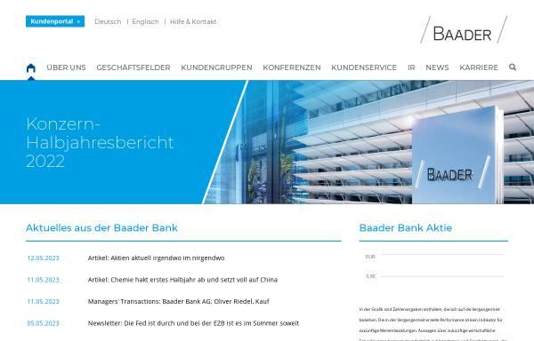 Vorschau von www.bondboard.de, Baader Bank AG, Bondboard