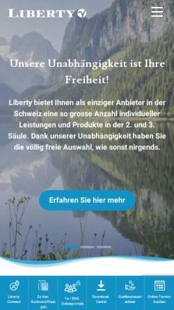 Vorschau der mobilen Webseite www.liberty.ch, Liberty Vorsorge AG