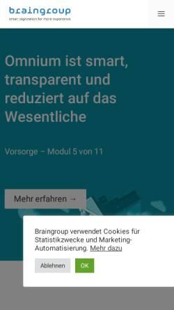 Vorschau der mobilen Webseite www.braingroup.ch, Braingroup AG