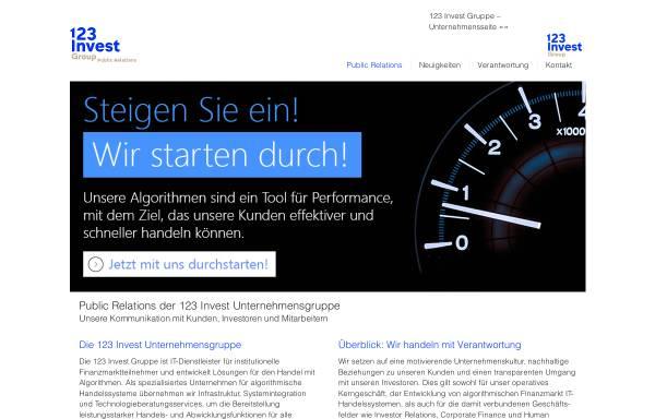 Vorschau von 1-2-3-invest.de, 123 Invest Unternehmensgruppe