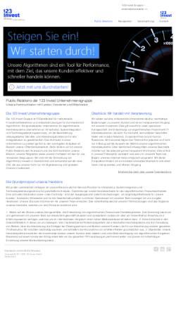 Vorschau der mobilen Webseite www.1-2-3-invest-pr.de, 123 Invest Unternehmensgruppe