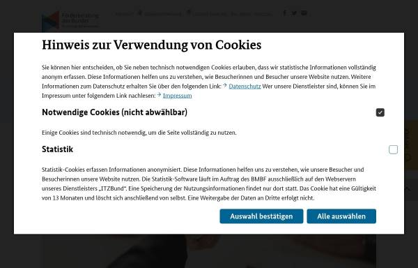 Vorschau von www.foerderinfo.bund.de, Forschungs- und Innovationsförderung für KMU