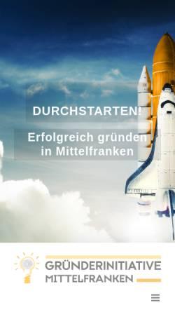 Vorschau der mobilen Webseite gruenderinitiative-mittelfranken.de, Gründerinitiative Mittelfranken