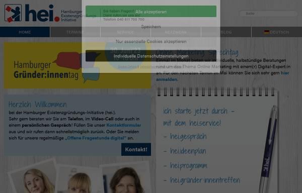 Vorschau von www.gruenderhaus.hamburg, Gründerhaus - H.E.I. Hamburger ExistenzgründungsInitiative