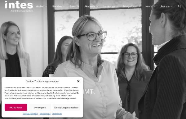 Vorschau von www.intes-akademie.de, Intes Akademie für Familienunternehmen GmbH