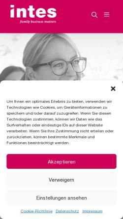 Vorschau der mobilen Webseite www.intes-akademie.de, Intes Akademie für Familienunternehmen GmbH