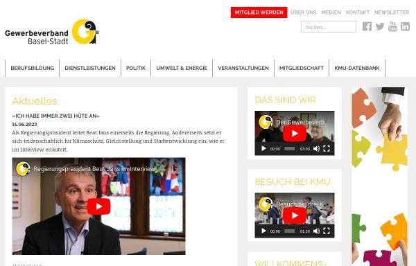 Vorschau von gewerbe-basel.ch, Gewerbeverband Basel-Stadt