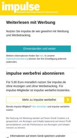 Vorschau der mobilen Webseite www.impulse.de, Impulse - Impulse Medien GmbH