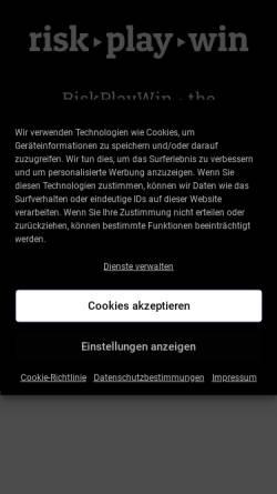 Vorschau der mobilen Webseite riskplaywin.com, RiskPlayWin – More Than Digital e.U.