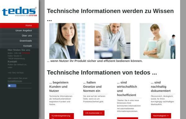 Vorschau von www.infomitsystem.de, Tedos, Information mit System - Dipl.-Ing. (FH) Ursula Sturm