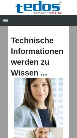 Vorschau der mobilen Webseite www.infomitsystem.de, Tedos, Information mit System - Dipl.-Ing. (FH) Ursula Sturm