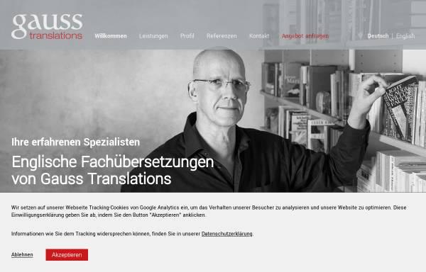 Vorschau von www.gauss-translations.de, Gauss Translations, Inh. Dr. Jürgen Gauss