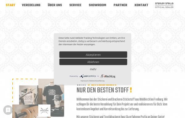 Vorschau von www.stickstoff-fashion.de, StickStoff® GmbH