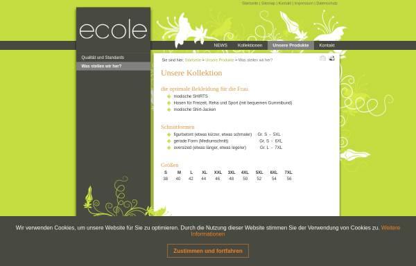 Vorschau von www.ecole-mode.de, Ecole mode e.K.