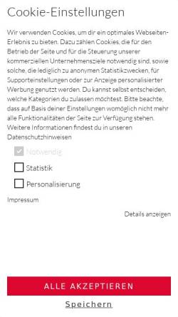 Vorschau der mobilen Webseite b2b.gwbi.de, Grafik Werkstatt Bielefeld, Becker & Becker International GmbH