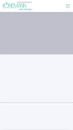 Vorschau der mobilen Webseite www.koenemann-bs.de, Barsortiment Könemann Vertriebs GmbH