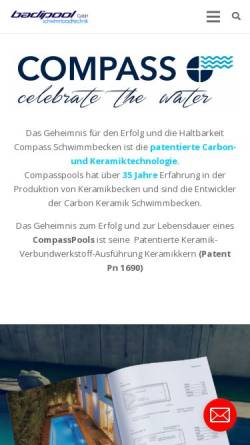 Vorschau der mobilen Webseite www.badipool.ch, Badipool GmbH