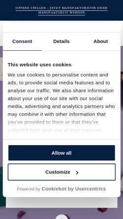Vorschau der mobilen Webseite de-de.kpm-berlin.com, KPM Königliche Porzellan-Manufaktur Berlin GmbH