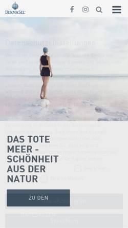 Vorschau der mobilen Webseite www.dermasel.de, Fette Pharma AG