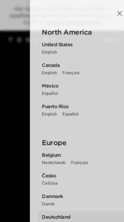 Vorschau der mobilen Webseite www.tesla.com, Tesla Motors GmbH