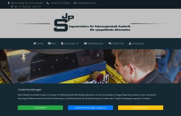 Vorschau von www.kfz-pruefer.de, Ingenieurbüro Jens Seyfarth