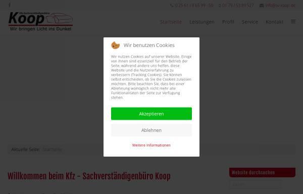Vorschau von sv-koop.de, Kfz-Sachverständigenbüro Koop