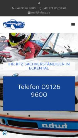 Vorschau der mobilen Webseite www.kfzsv.de, Sachverständigenbüro Dümmler UG