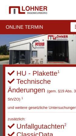 Vorschau der mobilen Webseite www.mark-lohner.de, Ingenieurbüro Lohner