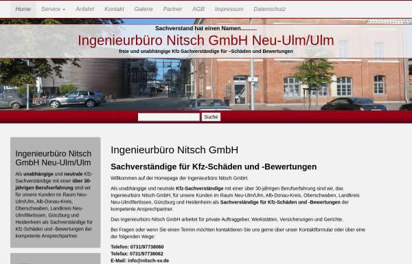 Vorschau von www.nitsch-sv.de, Ingenieurbüro Nitsch GmbH
