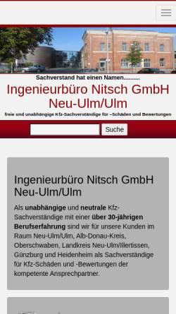 Vorschau der mobilen Webseite www.nitsch-sv.de, Ingenieurbüro Nitsch GmbH