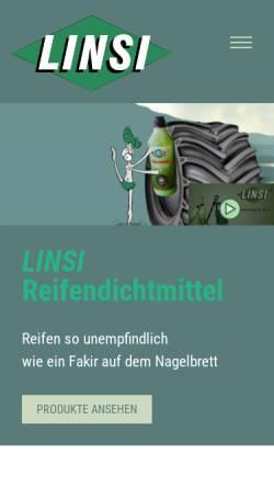 Vorschau der mobilen Webseite www.linseal.de, Linseal GmbH