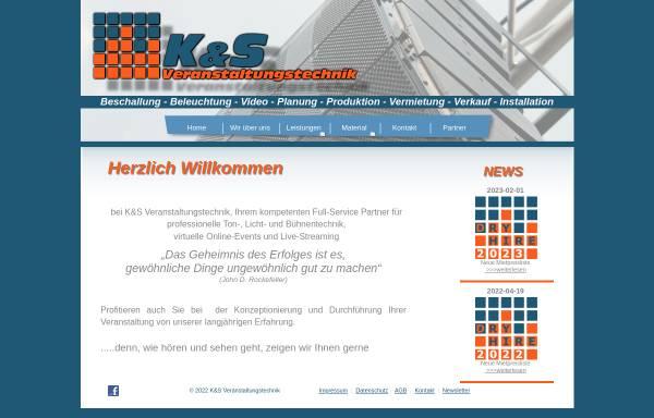 Vorschau von www.ks-veranstaltungstechnik.de, K&S Veranstaltungstechnik Krohn und Schumacher GbR