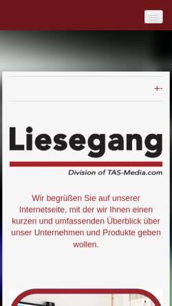 Vorschau der mobilen Webseite liesegang-tas.de, Liesegang