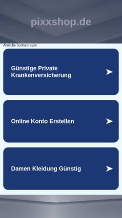 Vorschau der mobilen Webseite www.pixxshop.de, photo-2U Unger & Unger GbR