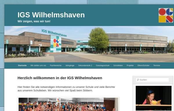 Vorschau von www.igswhv.de, Integrierte Gesamtschule Wilhelmshaven