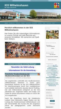 Vorschau der mobilen Webseite www.igswhv.de, Integrierte Gesamtschule Wilhelmshaven